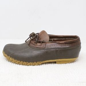 LL Bean Moccasin Rain Duck Shoes Brown Size 9